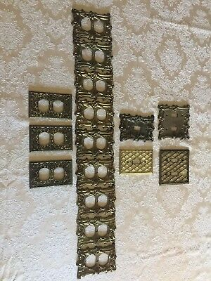 Vintage Lot Light Switch Plate Outlet Covers Hardware Brass