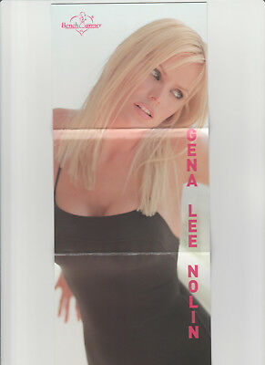 Gena Lee Nolin 2002 Bench Warmer Tri Fold Jumbo Box Topper Card 1