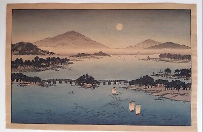 Original Japanese woodblock print from early 1920s by Hasegawa Publishing RARE
