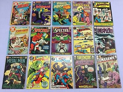 LOT OF (15) 12 & 15 Cent DC COMIC BOOKS Superman,Lois Lane,Supergirl,Metal Men