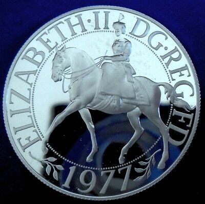 1977 25 Pence Silver Jubilee Proof Crown, .925 silver + cap. + cert. - top grade