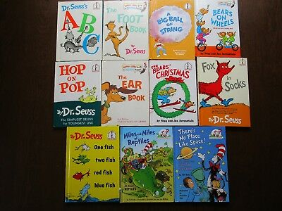 Lot of 11 Dr. Seuss I Can Read Bright and Early Cat In The Hat Hardcover Books