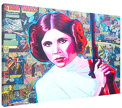LEIA MIXED-MEDIA HD Canvas Art  Print (FRAMED) Fast  FREE Shipping! Star Wars