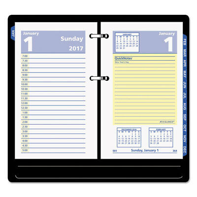 QuickNotes Desk Calendar Refill, 3 1/2 x 6, Jan-Dec 2018 (12 Month)