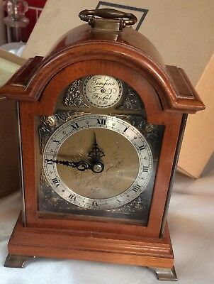 English bracket clock by Elliott Of London,Original Box,vintage fine quality,g/c