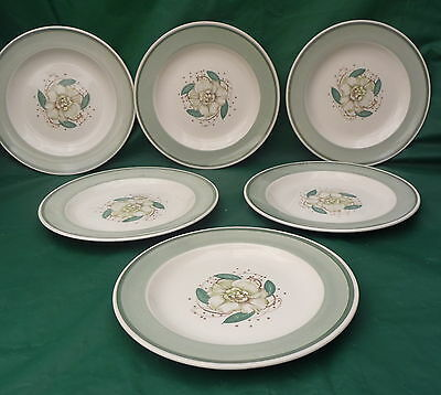 6 vintage Susie Cooper side plates Gardenia 2405 pattern 1960- 1979 dinner set