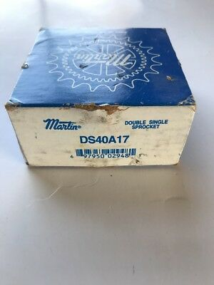 Martin Ds40A17 Double Single Sprocket *new* -Free Shipping-