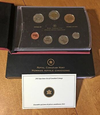 2012 7-coin Specimen Set CANADA 25 Years of the Loonie $1