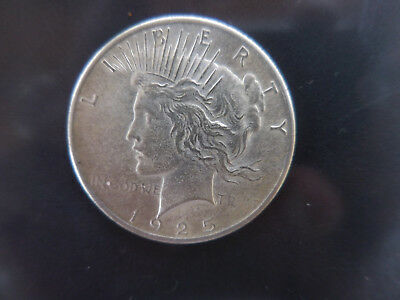 1925 P Silver Peace Dollar  - Vf+