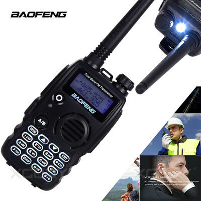 Baofeng A52 Walkie Talkie Headset Vhf Uhf 2-Way Fm Radio Ctcss 128Ch Vox 5W 5Km