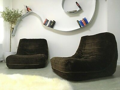 Chaise longue brown picclick uk for Chaise longue roche bobois