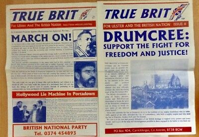 2 x True Brit Ulster British National Party Papers BNP NF 1990's