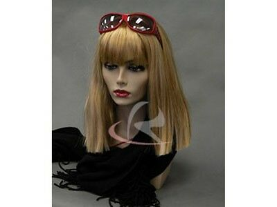 CA Female Mannequin Head Bust Jewelry Wig Hat Earrings Necklace Display MD-PH17