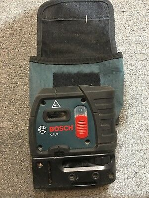 Bosch GPL 5S - 5 Point Self Leveling Alignment Laser Used Good Condition
