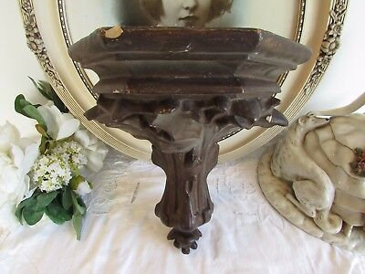 Antique French superb old plaster wall console  sconce / shelf. N°2