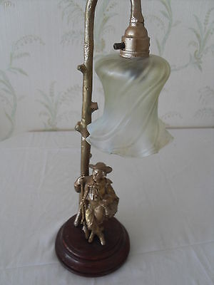 Spelter Cavalier lamp 18 inches