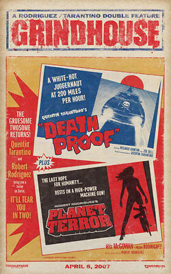 Grindhouse – Death Proof Planet Terror 24 x 36 in Movie Poster Quentin Tarantino