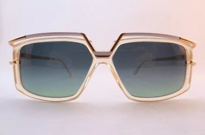 Vintage 80s Cazal 329 Sunglasses Size 58-11 White/Gold Frames Made In Germany