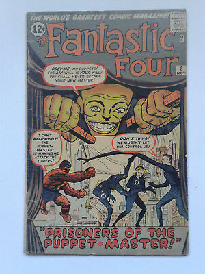 FANTASTIC FOUR #8 Nov 1962 1st Puppet-master HIGH GRADE OW PAGES