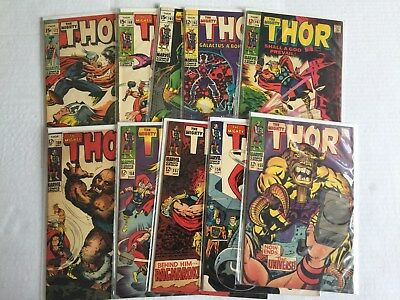 Thor Lot 2--Issues 155,156,157,158,159,161,162,167,168,172