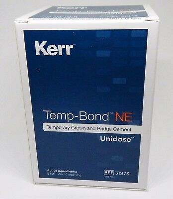 Kerr Tempbond Ne Non Eugenol Temporary Cement Unidose 50 X 2.4Gm Packs Temp Bond