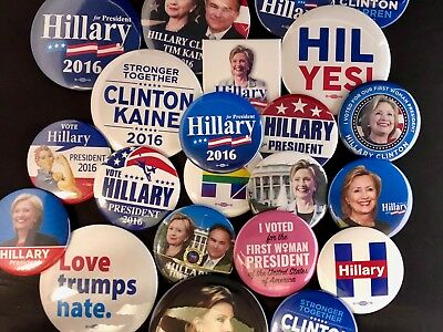 2016 Hillary Clinton Collectors Button Sets