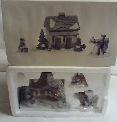 Dept 56 Dickens Village Accessory Tending The New Calves 58395 NIB