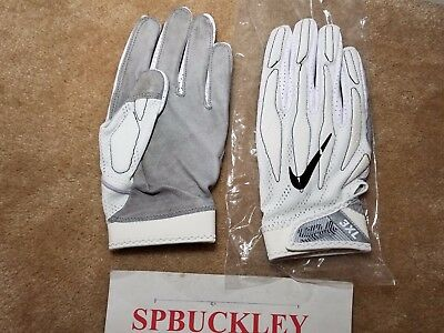 new product f05db 6761c Nike Superbad 4 Adult 3Xl High-Impact Skill Position Football Gloves,  White, Nfl