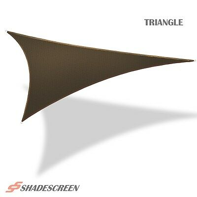Brown Deluxe Triangle Sun Shade Sail UV Top Outdoor Canopy Patio Awning Lawn Top