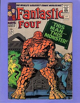 Fantastic Four #51  - -  This Man, This Monster  -- --  VG  cond.