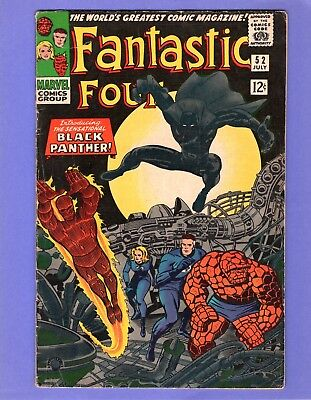 Fantastic Four #52  - -  Key - 1st Appearance Black Panther!  -- --  VG-  cond.