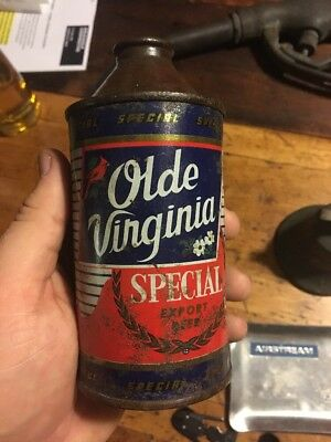 Old Virginia special export 12 oz. Cone Top Beer Can-Roanoke, VA (Empty can)