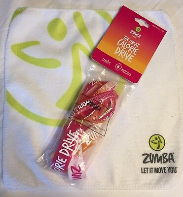 Zumba NEW 8 Rare BRACELETS, Towel set lot Hard To Find NWT Great Calorie Drive