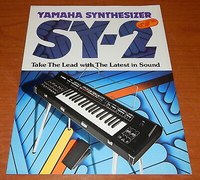 Vintage 1974 Yamaha SY-2 Synthesizer Brochure SY2 Synth Catalog Keyboard