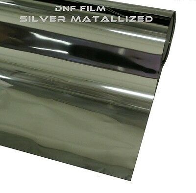 """One Way Silver Mirror Reflective 2Ply Window Tint 15% 60"""" X 100 Feet - Free Gift"""