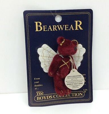 N58 The Boyds Collection Bearwear Pin Accessories Angel Bear Clothing Decor Mini