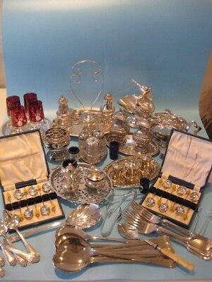 Nice Large Job Lot of Antique Silver Plated Items and Silver Plated Cutlery
