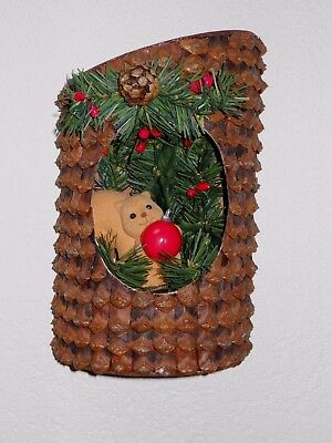 Avon Pinecone Squirrel L'IL Tree Trimmer Christmas Wall Decor Hanging NEW