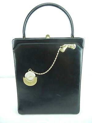 "HARRY ROSENFELD ""TIME ON MY HANDS"" VINTAGE HANDBAG  1950's"
