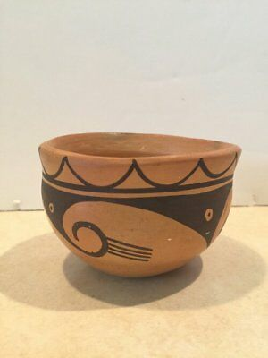 Indian vintage hopi pottery bowl handmade native SW arizona Excellent condition