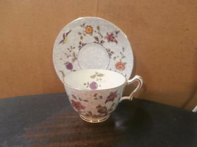Crown Staffordshire Flowers And Birds Bone China Cup & Saucer