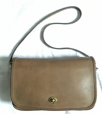Vintage Tan Leather Coach Bag Purse Bonnie Cashin ? Turn Lock