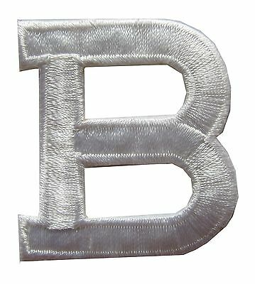 "Letters-White Letter ""B"" Embroidery Iron On Applique Patch"