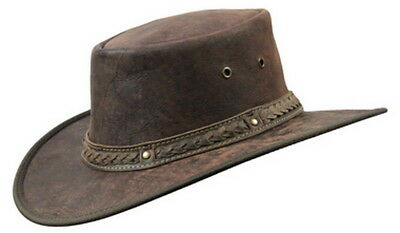 Genuine Kangaroo Leather Hat AUSTRALIAN MADE Barmah Squashy Foldaway NEW