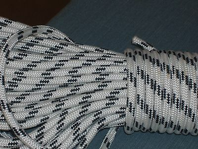 """Double Braid Polyester 3/8""""x 75 feet roofers ladder lift rope  halyard line"""
