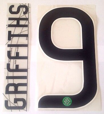 Celtic UCL/EUROPA Home Shirt 2017-18 GRIFFITHS#9 Official SPORTINGiD Name Number