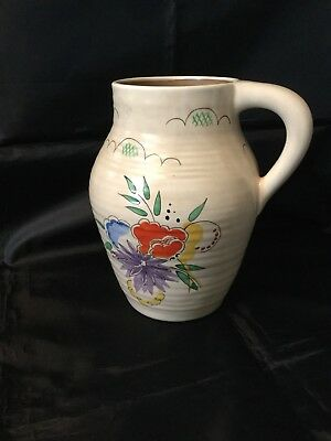 Clarice Cliff Summer Bouquet Large Jug Very Rare Almost Mint Condition 1937