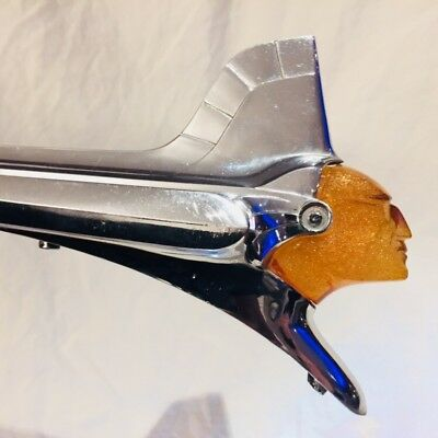 1951 Pontiac Chieftain Hood Ornament Vintage Indian Motorcycle *hot Rod Rat Rod*