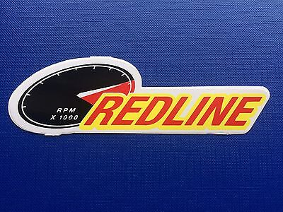 Red Line Sticker / Decal - Synthetic Motor Oil - Red, Black, Yellow