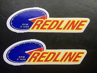 Red Line Stickers / Decals - Synthetic Motor Oil - red blue yellow